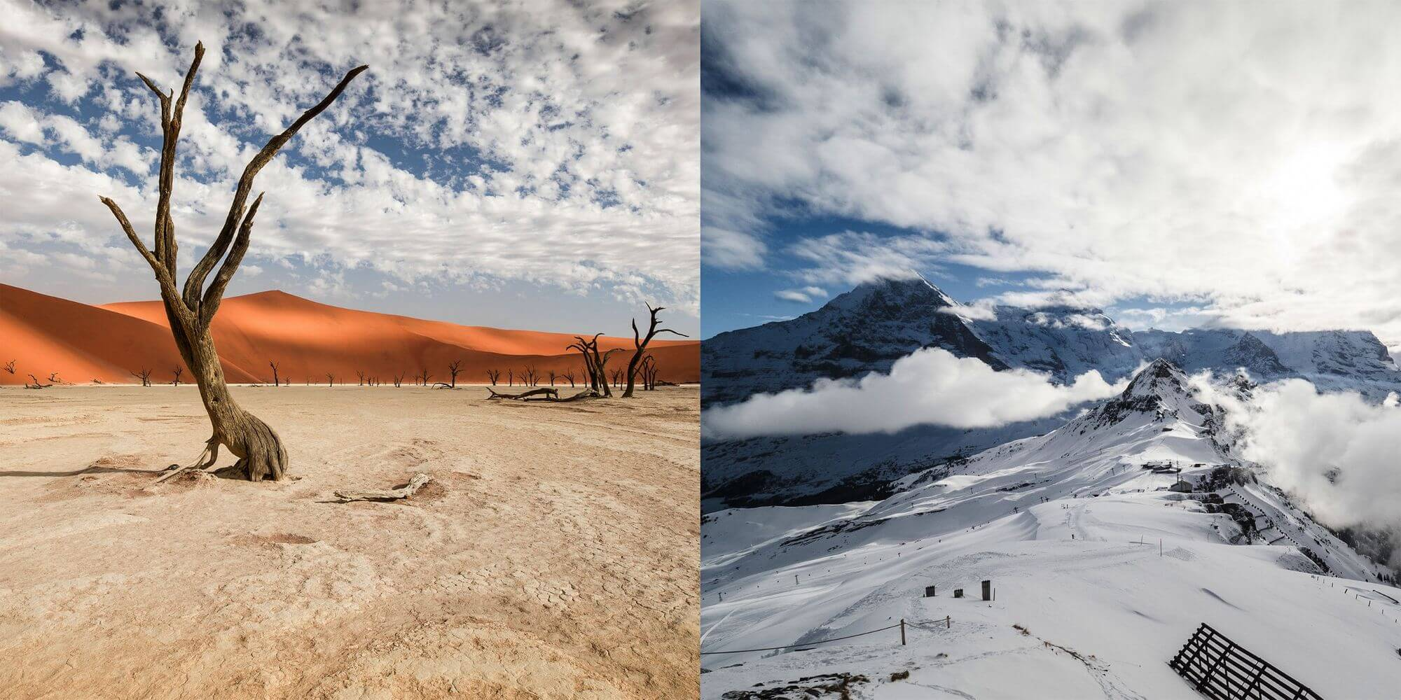 Namibian sands vs. Alpine Ski Cups
